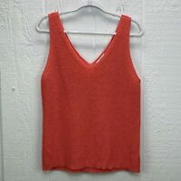 BAR III Womens Coral Sleeveless V Neck Top Size XL Knit Layering Tank Blouse