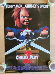 Childs Play 2 Movie Poster 24x36 Sorry Jack Chucky's Back Horror Murder Doll