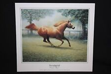 "SECRETARIAT Print by James L. Crow 8"" x 7 1/8"""