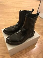 Brunello Cucinelli Fall Womens Patent Leather Chelsea Boots- Size 7