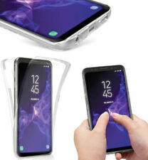 For Samsung Galaxy Case 360 front & back Phone Cover Silicone Crystal Clear