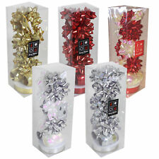 Christmas 13 Piece Gift Pack of Bows Ribbons - Choose Colour