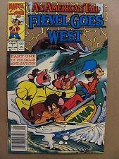 An American Tail Fievel Goes West #1 Marvel Comics 1991 Newsstand 9.2 Near Mint-