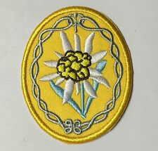 WWII German African mountain division troops elite edelweiss gold patch-1174