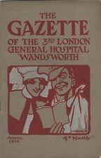 WW1 Magazine Gazette of 3rd London General Hospital Wandsworth Jan 1918