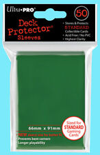 50 Ultra Pro GREEN DECK PROTECTOR Standard Size Card Sleeves NEW MTG game pack