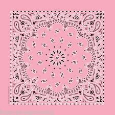 *USA Made*LIGHT PINK PREMIUM PAISLEY BANDANA BANDANNA Scarf Scarve Head Wrap