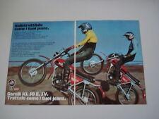 advertising Pubblicità DOPPIA 1975 MOTO GARELLI KL 50