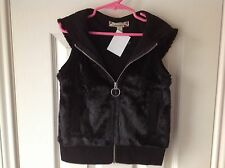 Girls Vest Black Size 6/7 Sleeveless
