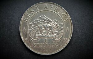 EAST AFRICA 1942H SILVER ONE SHILLING