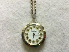 Up Vintage Necklace Pendant Watch Pretty Swiss Made Lucerne Mechanical Wind