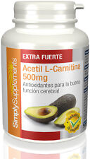 Acetil L-Carnitina 500mg  60 Cápsulas