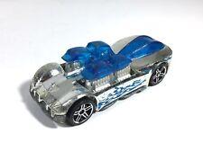 Hot Wheels 2006 What 4-2 Chrome Burnerz Series Blue Silver Race Car Malaysia