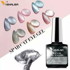 9D SPAR CAT EYE Nail Gel Polish Transparent Colour Venalisa Soak Off UV / LED