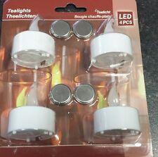 """LED-Tealight """"T-Light"""", 4 pcs, flickering incl. batteries 3V."""