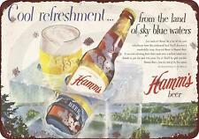 "1955 Hamm's beer bear cool Vintage Retro Metal Sign 8"" x 12"""