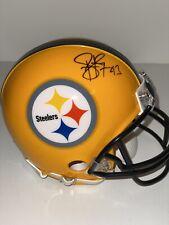 Troy Polamalu Autographed Pittsburgh Steelers Yellow HOF Mini Helmet BAS WB59001