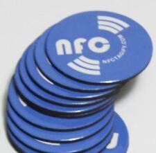 10 X Blue  Magnetic, Anti-Metal NFC NXP NTAG213 Chip