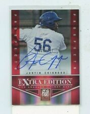JUSTIN CHIGBOGU 2012 Panini Elite Extra Edition Prospects Auto Autograph #D /797