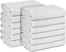 12 Pack Cotton Blend Economy Hand Gym Hotel Salon Barber Towels (15