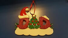 Glitter-Dad Personalized Christmas Tree Ornament Holiday