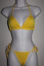 NEW! Vintage 80s 90s Style Bikini Thong Bathing Suit Swim Swimsuit Yellow String