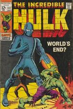 Incredible Hulk #117 ( Fn+, 6.5 ) 1969, Last 12 cent issue