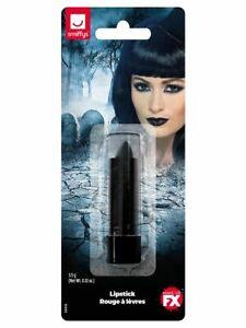 Halloween Fancy Dress Ladies Lipstick Witch Goth Black Lippy New by Smiffys