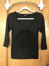 Sonia Rykiel For H&M Black Fine Cotton Jumper Size XS