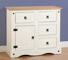 CORONA Cream and Distressed Waxed Pine 1 Door 4 Drawer Sideboard Chest