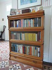 Orig.KENRICK & JEFFERSON  Bücherschrank Vitrine Bücherregal ca 1920 Eiche massiv