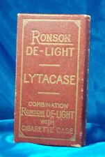Vintage De-Light LYTACASE from Ronson, with Instructions & Advertising Box