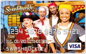 Swashbuckle Novelty Plastic Credit Card
