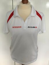 Nissan NISMO Mens white Polo Shirt Size M New