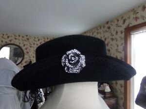 Victorian Attire Civil War Felt HAT Accessory 19 Century Costume Used Adult