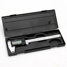 "Digital Vernier Caliper Electronic Micrometer Guage 6"" 150mm New Stainless JU"