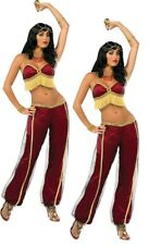 Ruby Dancer Costume Adults Fancy Dress Outfit Belly Dancer Arabian Princess New