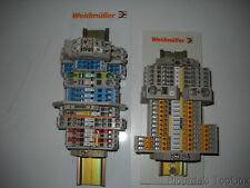 Lot of (2) New Weidmuller DIN Rail Relay Display, Z series, DEM0008, 8616210000