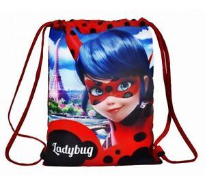 LadyBug Mochila Saquito de Tela Sportwear Infantil Regalo Cumpleaños Niñas