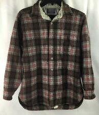 Pendleton Wool Button Shirt SS Mens Sz Large USA Western Rancher Cowboy Rodeo
