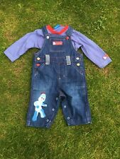 IN THE NIGHT GARDEN DUNGAREES & TOP 3-6 MONTHS NEW
