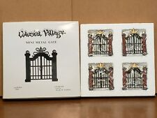 "NEW Lefton Colonial Village Christmas 4 PK Mini Metal Gates Approx 2 1/2"" x 2 3"""