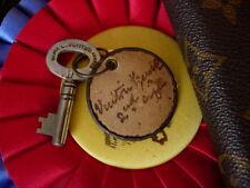 Rare Vintage LOUIS VUITTON Brass TRUNK KEY Speedy Keepall Suitcase Tote Bag LV