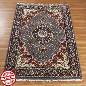 Indian Handmade Area Rug Hand Knotted Traditional New Flooring Decor Carpet 4x6