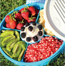 5 Compartment Lunch Box 2.0 Litre Round Food Container Student Work Box Assorted