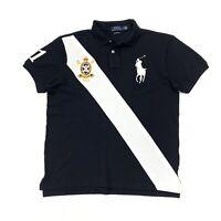 Polo Ralph Lauren Men's Big Pony Custom Slim Fit Polo Shirt In Black/White