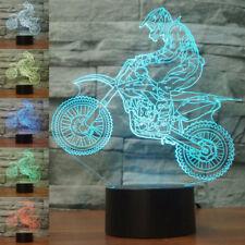 Mountain Motorcycles Motocross 3D illusion LED Figure Night light Table Lamp