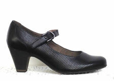 100% Leather Mary Janes Textured Heels for Women