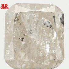 Natural Loose Diamond Cushion I2 Clarity White Grey Color 5.20 MM 0.72 Ct N6409