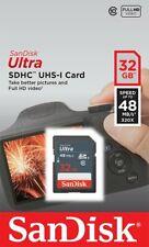 SanDisk 32Go 48Mo/s Ultra Class 10 UHS-I SD Full HD Video SDHC Carte mémoire